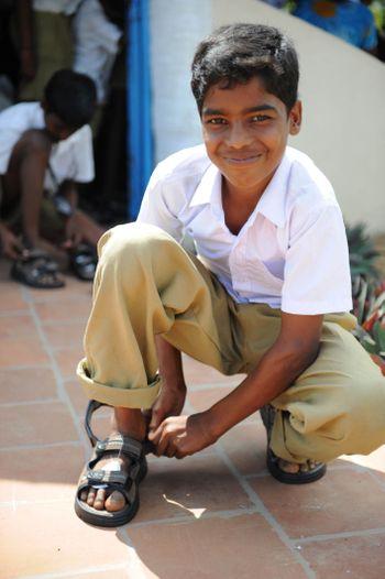 Student from nearby village (Kondamangalam)
