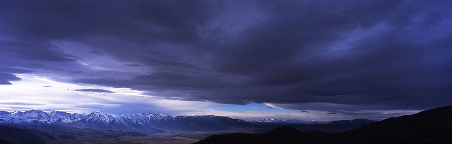 White Mountains California. Storm overhead  looking west