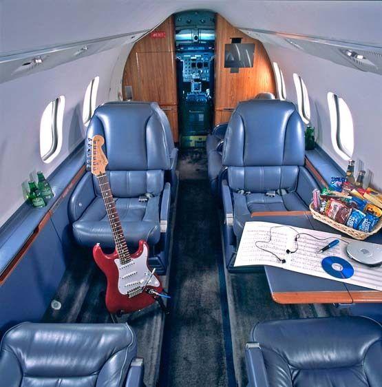 Gulfstream jet interior