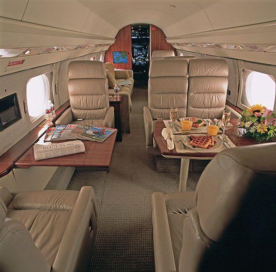 Interior of Gulfstream jet