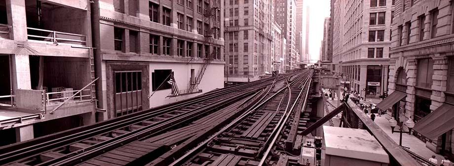 Chicago elevated train tracks