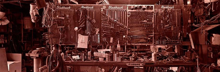 Work Bench & Tools in a Garage