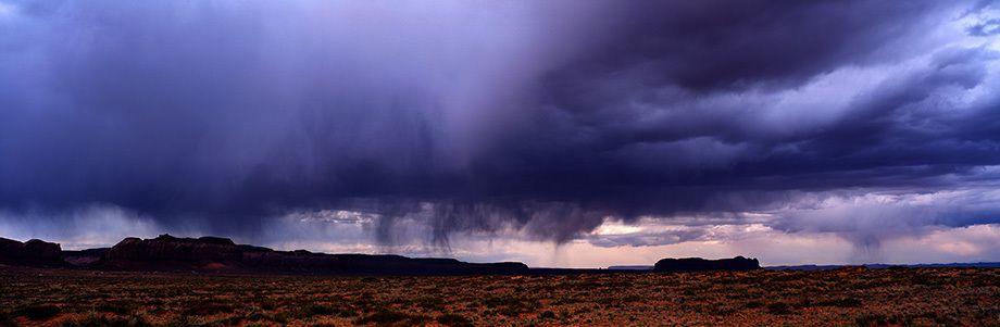 Rain and Clouds over Utah Desert