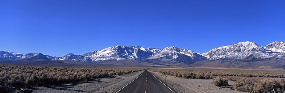 Off Highway 395 near Mono Lake, California looking west