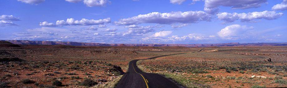 Utah desert road in red rock country