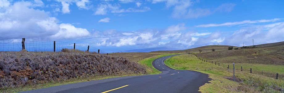 Country Road on the big island of Hawaii.