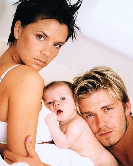 VICTORIA, BROOKLYN & DAVID BECKHAM