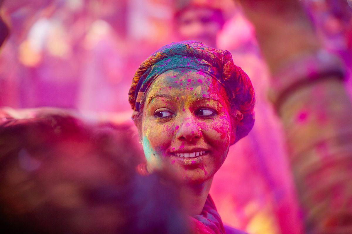 Holi 2020 Mathura, India