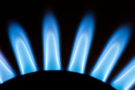 Gas Stove Flames Blue