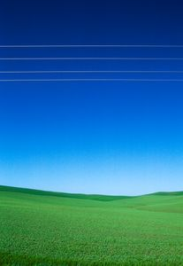 Power Lines Over a Field