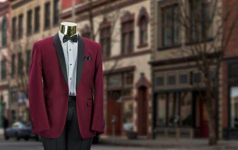 Mr Tux Burgundy Tuxedo