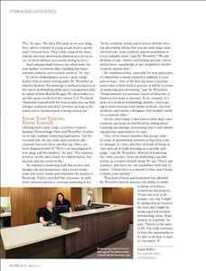 Med Esthetics Magazine spread