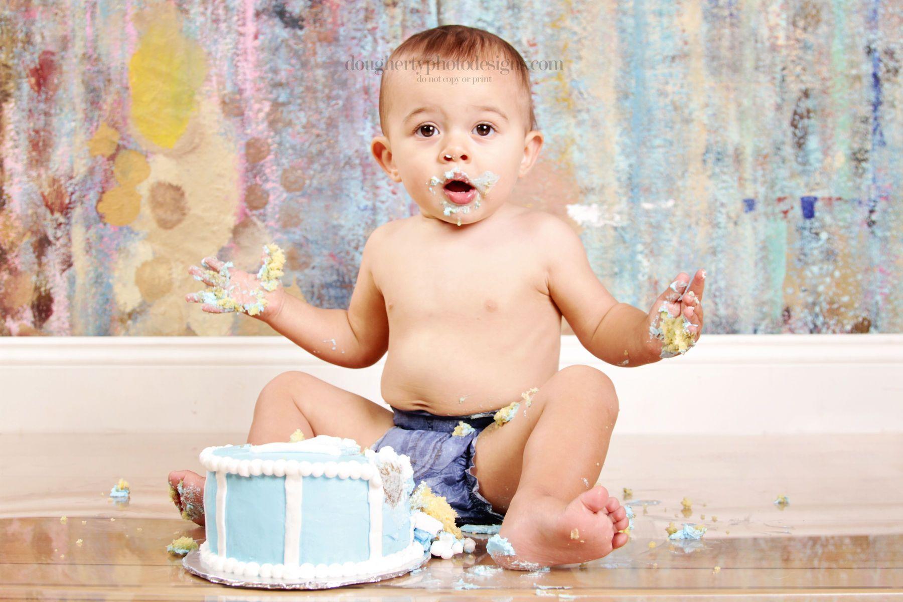 bobby's 1st birthday cake smash