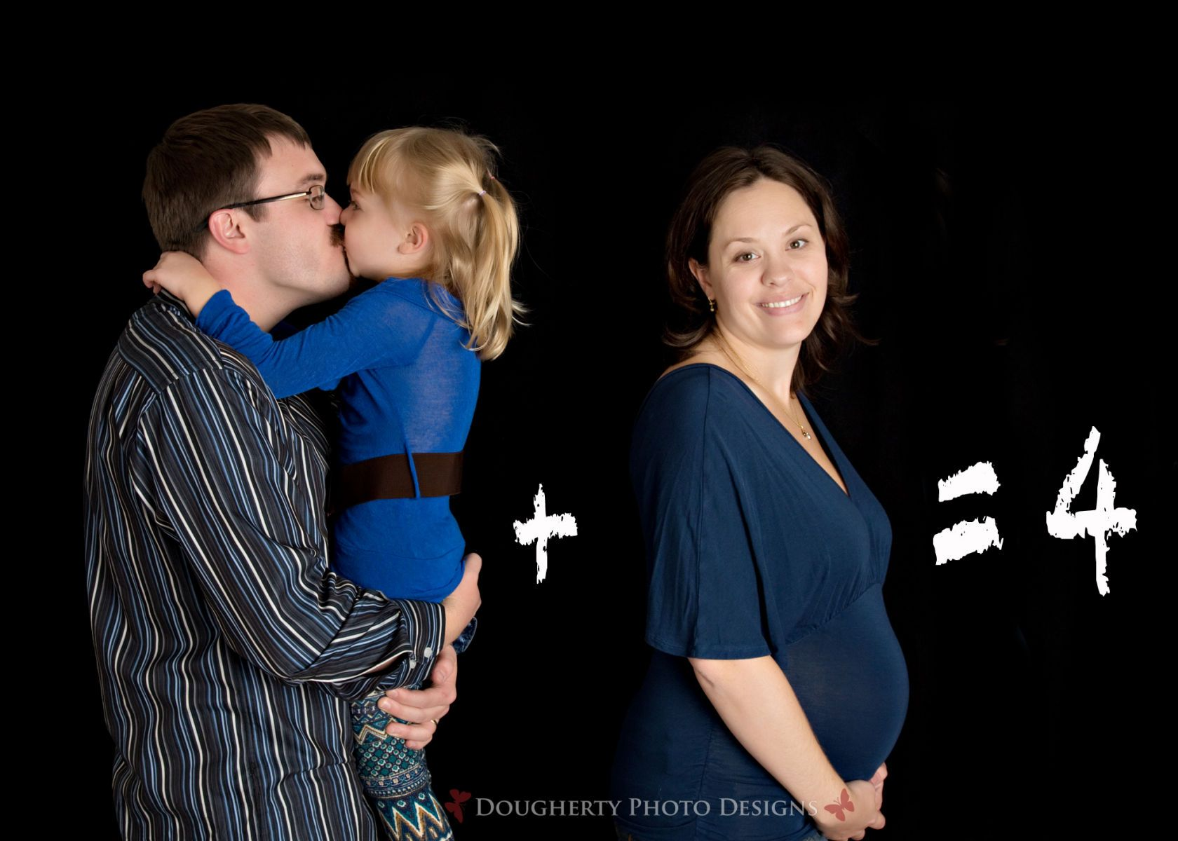 maternity session in portrait studio