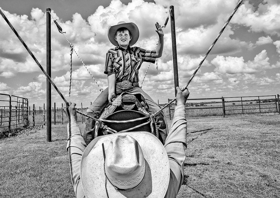 JW Harts' son on training bull