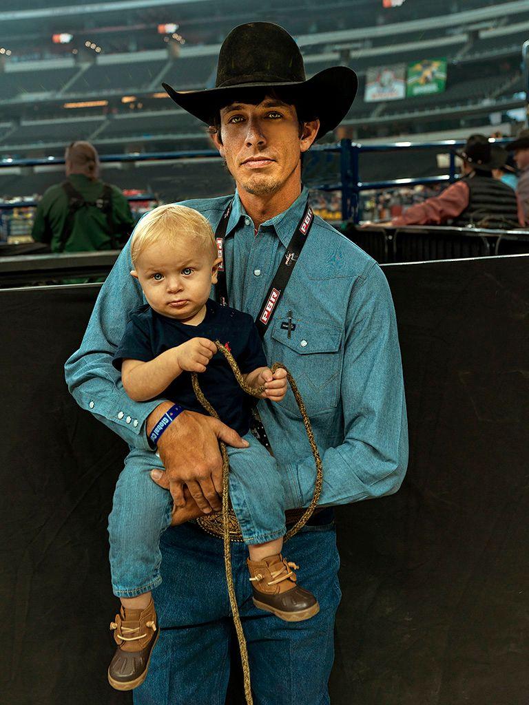 J.B. Mauney with son