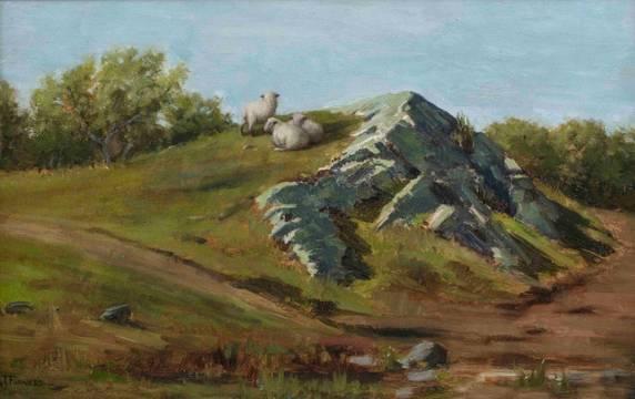 Rebekah T. Furness At Pasture unframed