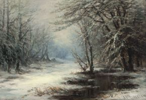 SUSIE M. BARSTOW A November Frost in the Mountains Unframed