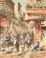 Robert Blum Chinatown, San Francisco unframed