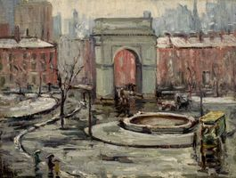 Alice Hirsch The Arch at Washington Square Park, NYC Unframed