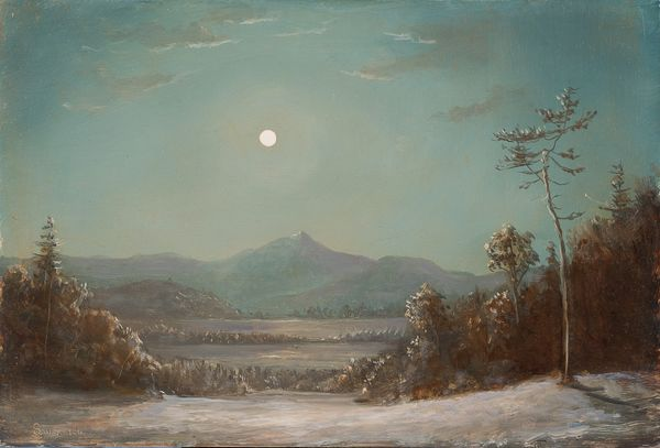 Sansaricq_Moonlight over Mount Chocorua_Unframedjpg