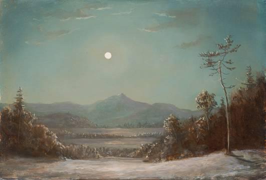 Sansaricq_Moonlight over Mount Chocorua_Unframedjpg