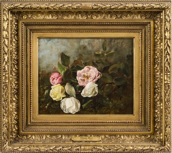 Claude R. Hirst Roses Framed