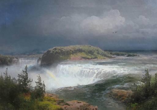Hermann Herzog Niagara Falls from the Canadian Side unframed