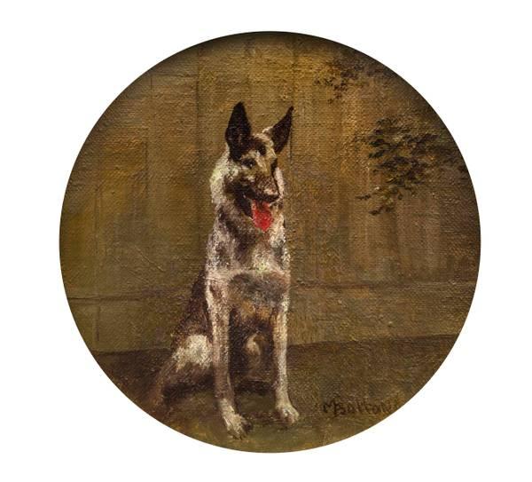Molly Bolton German Shepherd unframed