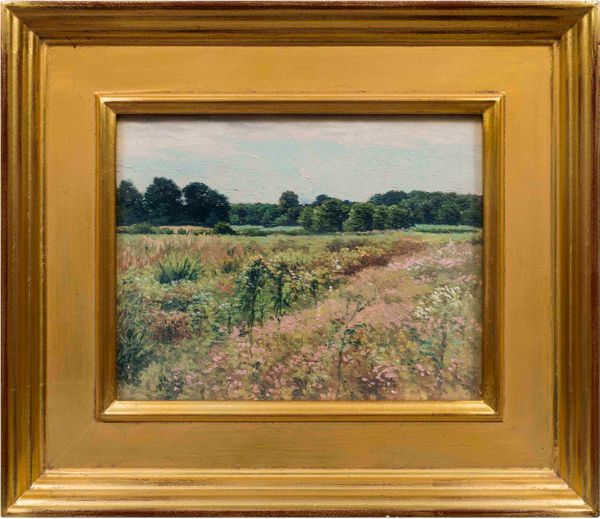 James Perry Wilson Field of Wildflowers, Painted at Towaco, New Jersey Framed_dontuse