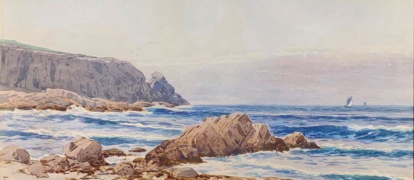 Alfred T. Bricher Coast of Grand Manan Island unframed