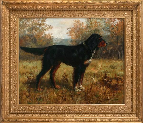 Otto Norquis Gordon Setter in a Landscape, 1890