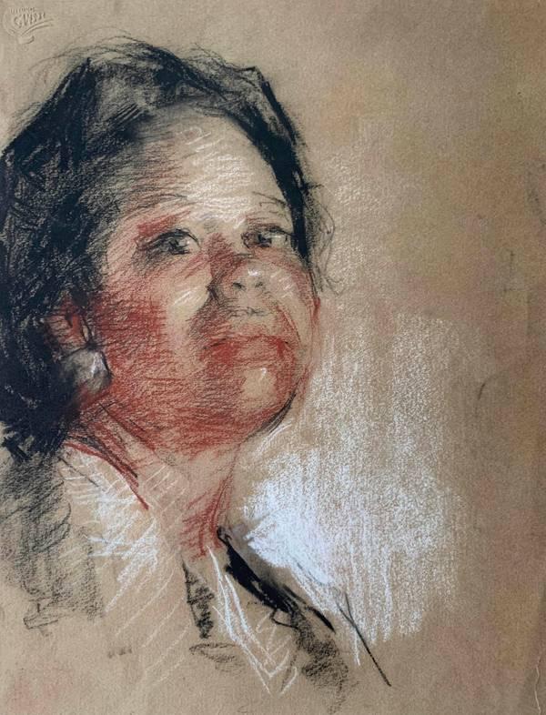 Mary Lane McMillan Study for Nurse unframed