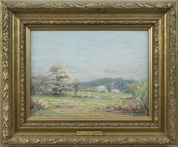 Mina Fonda Ochtman Apple Blossoms Greenwich CT Framed