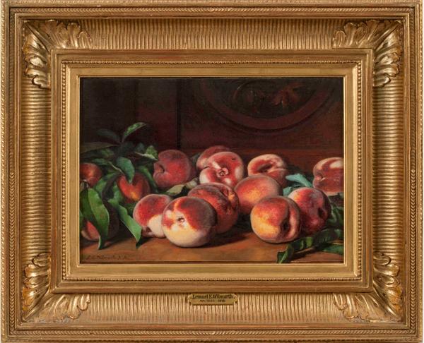 Lemuel Wilmarth Still Life with Peaches