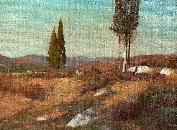 Frank Anderson Cedars in the Hudson River Valley unframed