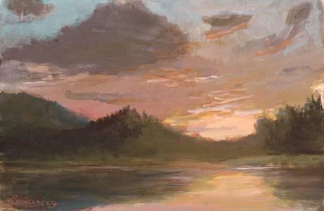 Lauren Sansaricq, Sunset over Colgate Lake Unframed