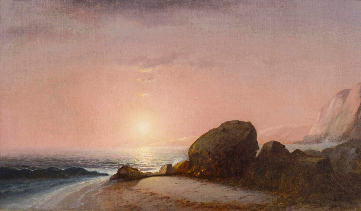 Lemuel M. Wiles Seascape View From the Shore at Sunset, Narragansett, Rhode Island Unframed