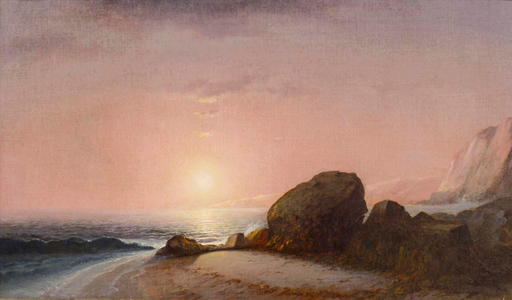 Lemuel M. Wiles Seascape View From the Shore at Sunset, Narragansett, Rhode Island Unframed