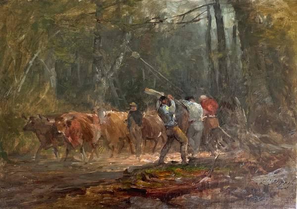 Samuel Lancaster Gerry Woodland Work  unframed