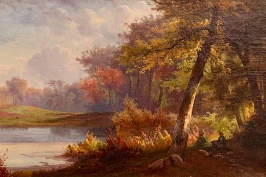 Johann Hermann Carmiencke Catskill Woodlands, 1862