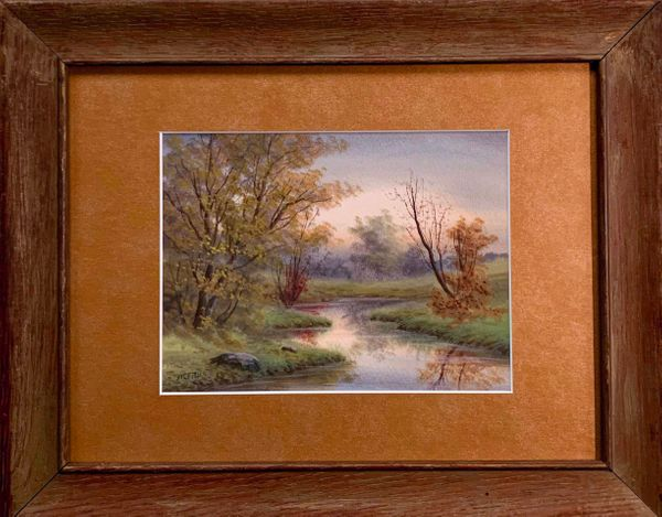 William Crothers Fitler Meandering Stream unframed