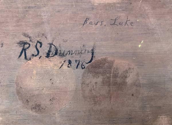 Robert Spear Dunning Bass Lake, 1876 unframed