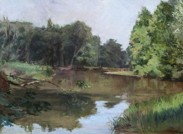 CAROLINE LORD Along the River Bank Unframed