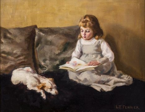 Lucy T. Fenner The Reading Companion unframed