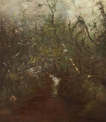 John Frederick Kensett Woodland Waterfall