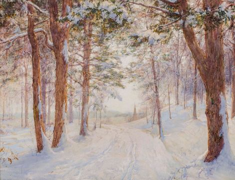 Walter Launt Palmer Path through the Woods unframed
