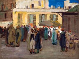 Jane Peterson Street Scene in Biskra