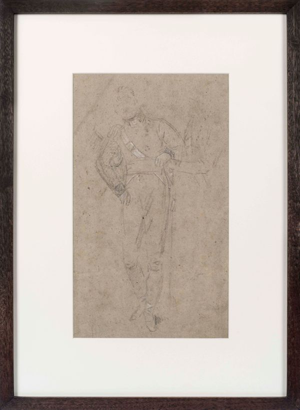 Benjamin West Study for the Death of Nelson (II)_framed