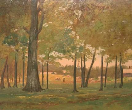 Edith Marian Mann Shepherd through the Trees